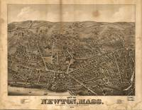 1878 Newton, MA Birds Eye View Panoramic Map