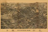 1899 Pittsfield, MA Birds Eye View Panoramic Map