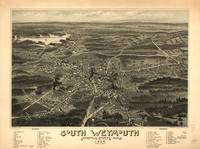 1885 South Weymouth, MA Birds Eye Panoramic Map