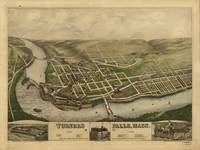 1877 Turners Falls, MA Birds Eye Panoramic Map
