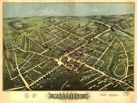1875 Westfield, MA Birds Eye View Panoramic Map