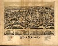 1887 West Medway, MA Birds Eye View Panoramic Map