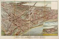 1895 Kansas City, MO Birds Eye View Panoramic Map