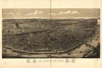 1895 St. Louis, MO Birds Eye View Panoramic Map