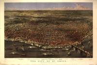 1874 St. Louis, MO Birds Eye View Panoramic Map