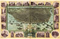 1896 Birds Eye View St. Louis, MO Panoramic Map