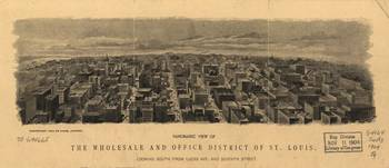 1904 Birds Eye View St. Louis, MO Business Distric