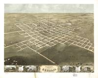 1869 Sedalia, MO Birds Eye View Panoramic Map
