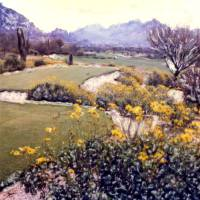 On the Tee -- Desert Golf Art Prints & Posters by Joanne Netland