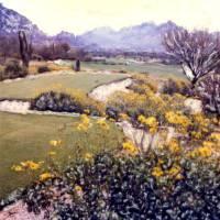 On the Tee -- Desert Golf Art Prints & Posters by Joanne Netland