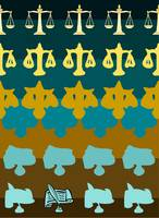 Legal Balance - Teal/Gold