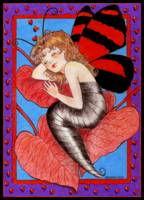 Red Butterfly Girl