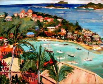 Poster Home Decor Wall Art C Cruz Bay In The Caribbean Art//Canvas Print