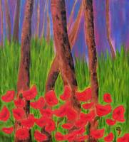Awakening, red poppies. 09590