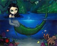 Mermaid in Her Grotto