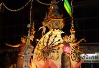 Girls Dancing in Loi Krathong Parade Chiang Mai