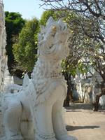Dragon Guarding the Chedi at Wat Mahawan Chiang Ma