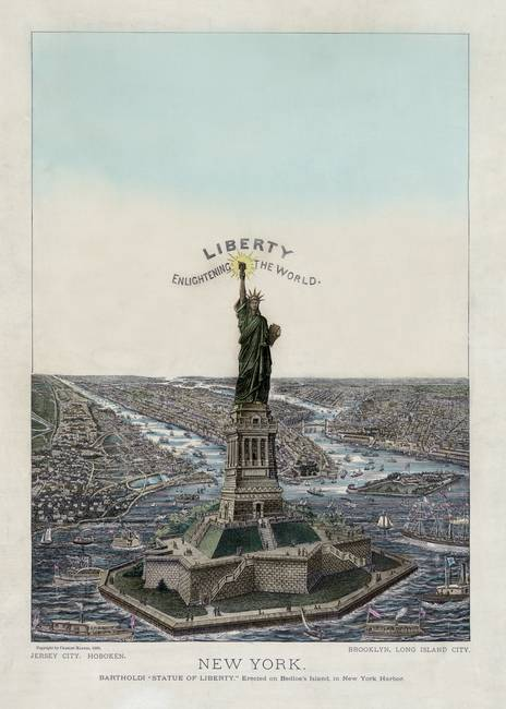 Statue of Liberty c1885