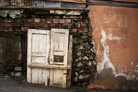 Old White Door And Wall
