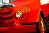 Very red 40's Autocar truck