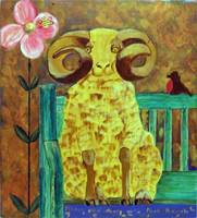 Sheep and Flower