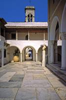 Inner Courtyard, Parish Church, Hydra, Greece by Priscilla Turner
