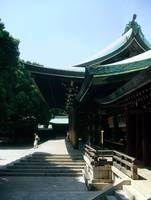 Meji-Jingu Shrine in colour