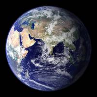 Full Earth showing the eastern hemisphere.