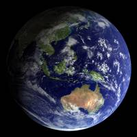 Full Earth from space showing Australia