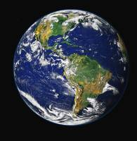Full Earth showing the western hemisphere.