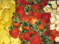 Pineapple, Strawberries & Banana