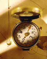 compass on astronomical   map