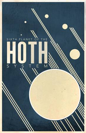 Sixth Planet of the Hoth System Fine Art Poster Print by Justin Van Genderen