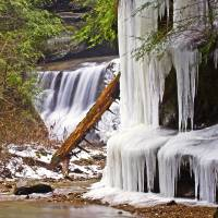 Water and Ice in Hocking Hills by Jim Crotty