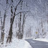 Winter Road in Dayton by Jim Crotty