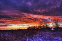 Winter Sunset in Sugarcreek Township