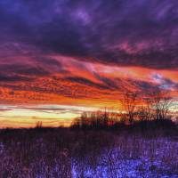 Winter Sunset in Sugarcreek Township by Jim Crotty