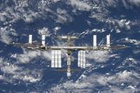 International Space Station in orbit over Earth.