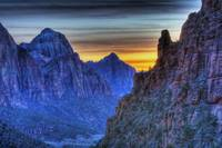 Winter Sunset in Zion National Park