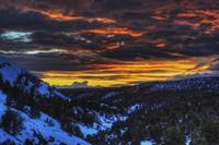 Winter Sunset on the Utah Arizona Border by Jim Cr
