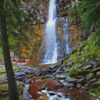 Virginia Falls Glacier National Park 2 by Jim Crot by Jim Crotty