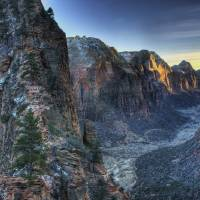 Winter Dusk and Angel's Landing Zion National Park by Jim Crotty