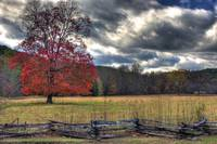 Autumn Sky Cades Cove