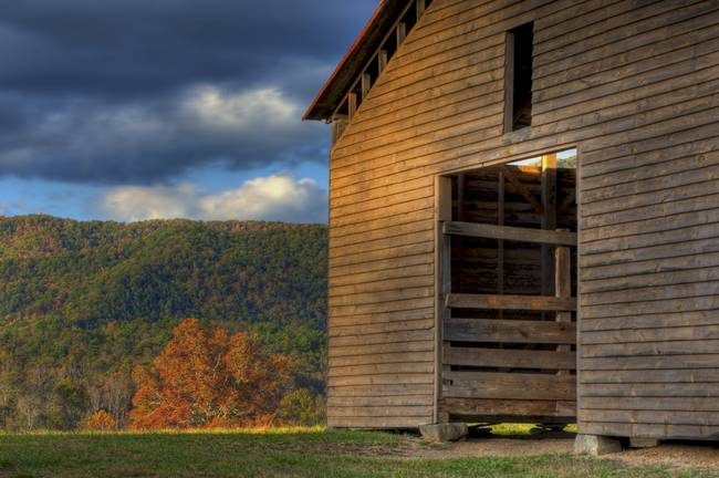 Barn at Sunset in Cades Cove