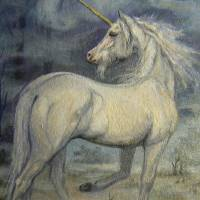 Misty Dream - Unicorn Art Prints & Posters by Kerry Nelson