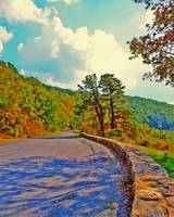 Skyline Drive Road Fake HDR Bright Colors 8X10