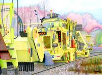 CSX track repair vehicle colored pencil mod 1