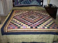 Antique African Fusion Quilt with Gold Inlay