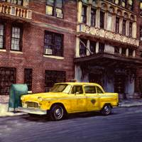 New York, Checker Cab by Joe Gemignani