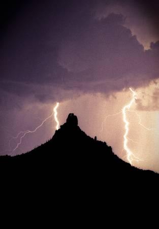 Pinnacel Peak Arizona Lightning Storm